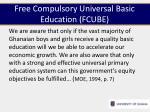 free compulsory universal basic education fcube