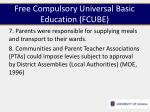 free compulsory universal basic education fcube3