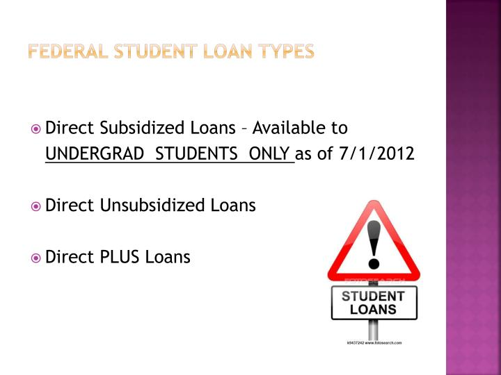 Federal student loan types