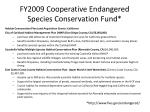 fy2009 cooperative endangered species conservation fund