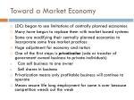toward a market economy