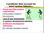3 problems that account for most system failures