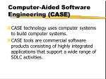 computer aided software engineering case