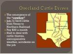 overland cattle drives