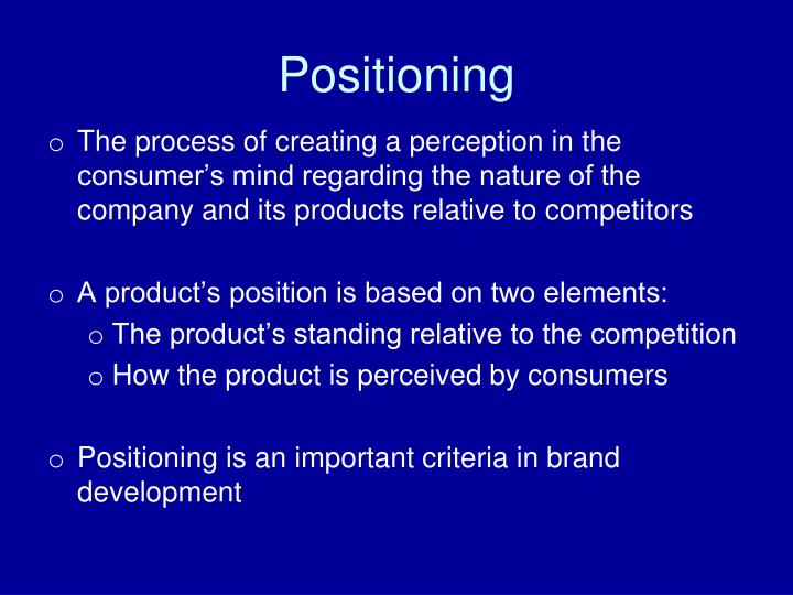 positioning and repositioning Repositioning is an effort to move a product to a different place in the minds of consumers the i-house, a prefab house built by clayton homes, a mobile home manufacturer, is an example.