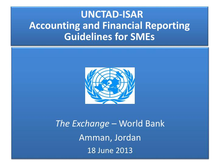 unctad isar accounting and financial reporting guidelines for smes n.