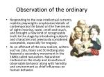 observation of the ordinary1