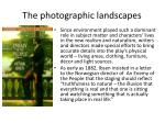 the photographic landscapes