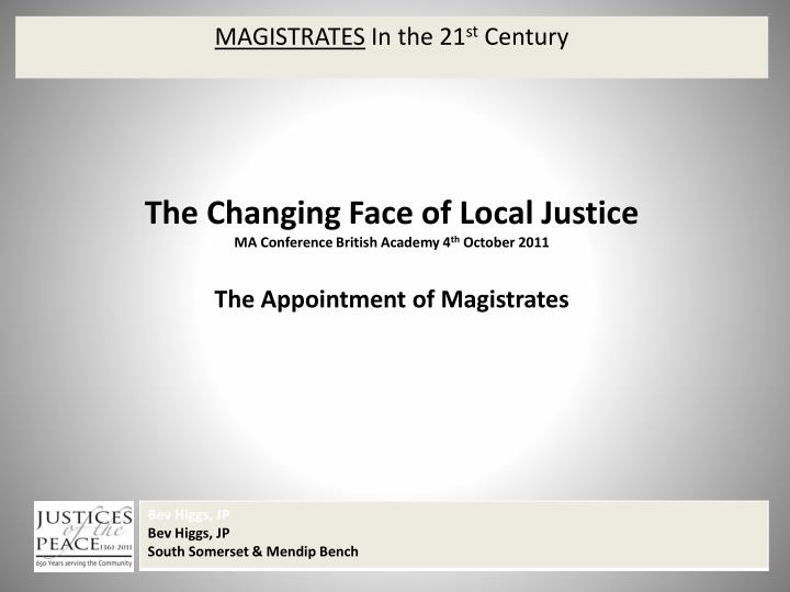 magistrates in the 21 st century n.