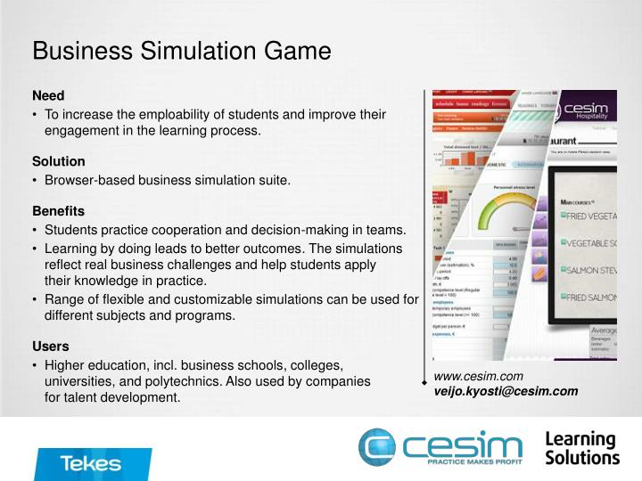 business simulation game n.