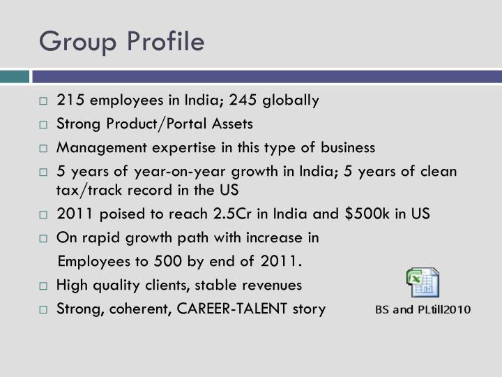 Group Profile