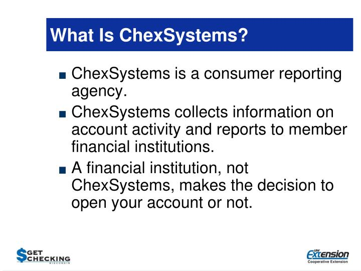 What Is ChexSystems?