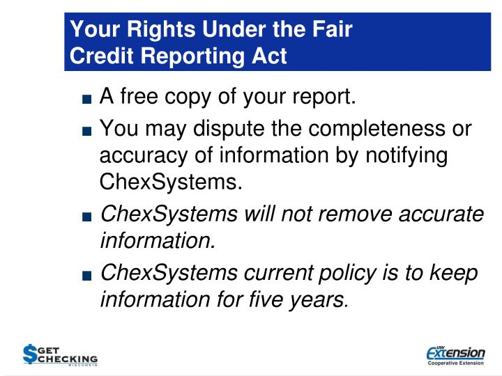 Your Rights Under the Fair