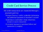 credit card service process