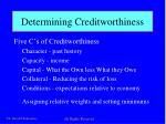 determining creditworthiness