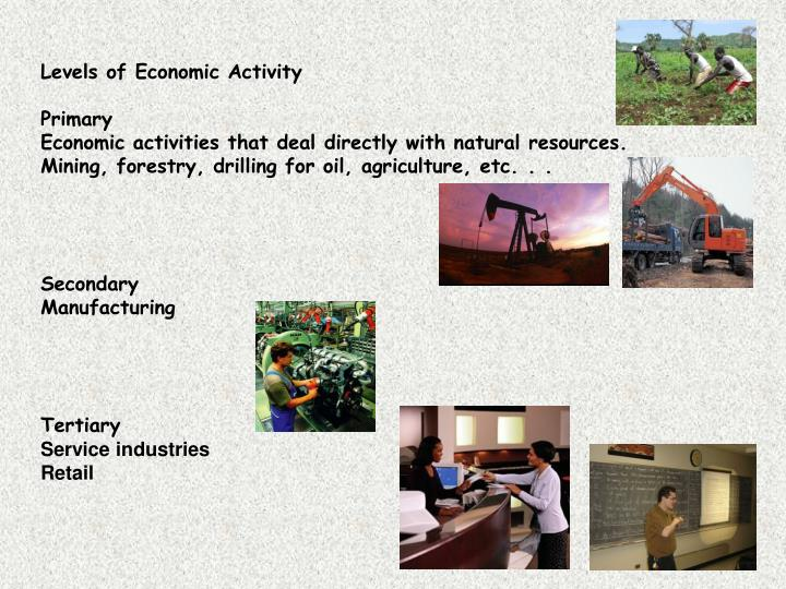 Levels of Economic Activity