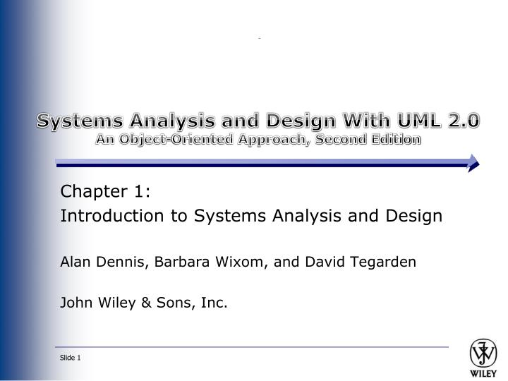 systems analysis and design with uml 2 0 an object oriented approach second edition n.