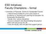 esd initiatives faculty champions formal