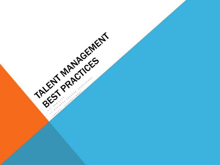 talent management best practices n.