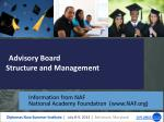 advisory board structure and management