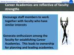career academies are reflective of faculty strengths