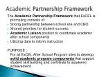 academic partnership framework