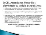 excel attendance must dos elementary middle school sites