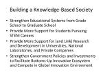 building a knowledge based society