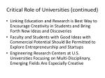 critical role of universities continued
