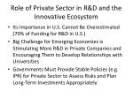 role of private sector in r d and the innovative ecosystem