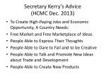 secretary kerry s advice hcmc dec 2013