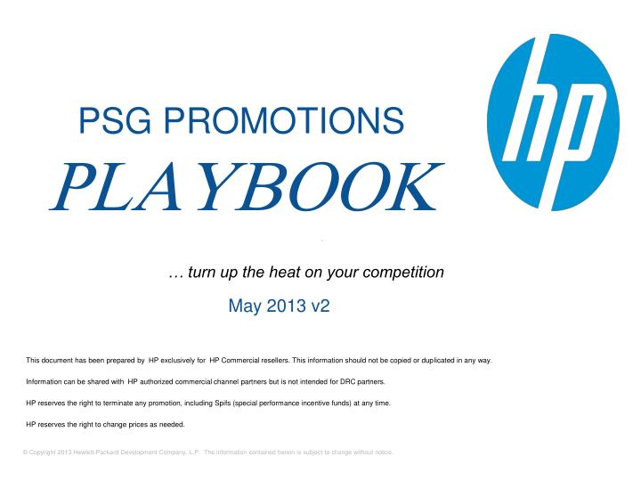 PPT - This document has been prepared by HP exclusively for