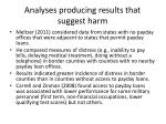 analyses producing results that suggest harm