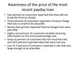 awareness of the price of the most recent payday loan