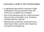 consumer credit in the united states