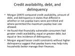 credit availability debt and delinquency