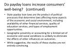 do payday loans increase consumers well being continued1