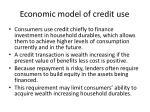 economic model of credit use
