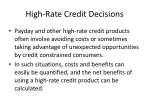 high rate credit decisions