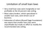 limitation of small loan laws