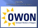 owon outreach workers of niagara