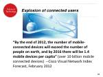 explosion of connected users1