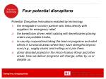 four potential disruptions
