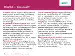 priorities for sustainability