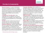 priorities for sustainability1
