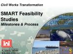 civil works transformation smart feasibility studies milestones process