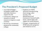 the president s proposed budget