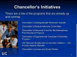chancellor s initiatives
