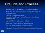prelude and process