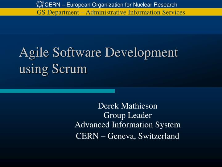 agile software development using scrum n.